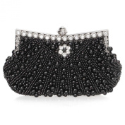 BMC Womens Faux Pearl Cascading Bead Rhinestone Evening Clutch Fashion Purse