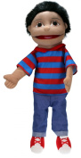 The Puppet Company - Puppet Buddies - Medium Boy - Olive Skin Tone Hand Puppet