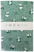 "Japanese Traditional Towel ""Tenugui"" Small PatternBamboo-grass-panda"