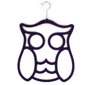 Purple Owl Shaped Scarf Storage Hanger from LilyRosa ideal Valentine or Mothers Day Gift