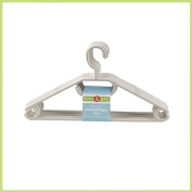Küche + Haushalt 20 hangers plastic white with anti-slip grooves made in Germany
