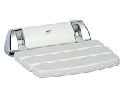 Mira 2.1536.129 Chrome Plated Wall Mounted Folding Shower Seat - White