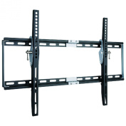 Duronic TVB777 Heavy Duty Adjustable Black Wall Bracket For Plasma, LCD, LED Screens For 80cm - 150cm Wide Screens With Tilt down. VESA 200X200, 400X400, 600X400