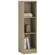Furniture To go 4 YOU Medium Narrow Bookcase with Melamine, 30 x 112 x 35 cm, Sonama Oak