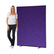 Office Screen / Partition 1500mm W x 1800mm H, woolmix fabric Violet Portrait