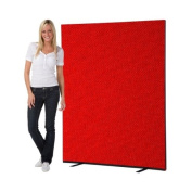 Office Screen / Partition 1500mm W x 1800mm H, woolmix fabric Red Portrait