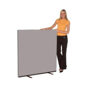 Office Screen 1200mm w x 1200mm h, nyloop fabric Grey