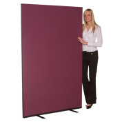 Office Screen / Partition 1500mm W x 1800mm H, woolmix fabric Merlot Portrait