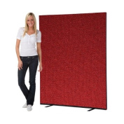 Office Screen / Partition 1500mm W x 1800mm H, woolmix fabric Ruby Portrait