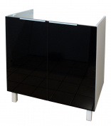Berlenus CE8BN Kitchen Sink Base Cabinet 80 cm High Gloss Black