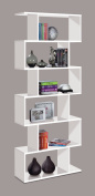 Ziggy White Gloss Bookcase Room Divider - by Furniture Factor