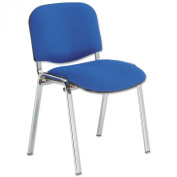 Trexus Stacking Chair Chrome with Seat W480xD450xH460mm Blue