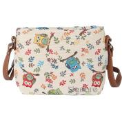 Signare Womens Tapestry Fashion Shoulder Handbag Across Body Messenger Bag Owl Design