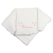 Snuggle Baby Princess Embroidery Baby Shawl, Pink