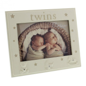 Twins Photo Frame Gift - Twin Baby Frame With Icons