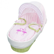 Kinder Valley Flamingo Moses Basket