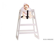 Oypla Stackable Kids Baby Wooden Feeding Commercial Home High Chair - White