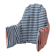 Ikea Antilop Highchair Cushion & Cover - Reversible with 2 colours red or blue (Model