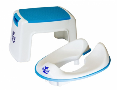 Pourty Toilet Training combo - Flexi-fit Toilet seat & Up Step stool