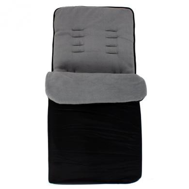 Baby Travel Essential Deluxe Snug Footmuff Cosytoes - Black/Grey