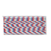 Generic Red and Blue double stripes Paper Drinking Straws for Party Table Decoration Festival Christmas, Pack of 25