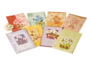 Colourful Exquisite Daisy Series Birthday Gift Cards, Pack Of 8