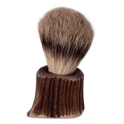 The English Pewter Co. Silver Tip Badger Hair Shaving Brush - Stag Horn Handle