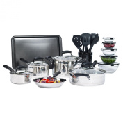 25-piece Stainless Steel Mega Cookware Set Cooking Kitchen Sets