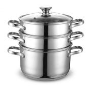 Cook N Home Stainless Steel Double Boiler/ Steamer Set 3.8l