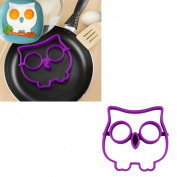 HP95(TM) Cute Funny Owl Shaped Egg Silicone Moulds Egg Ring Shaper