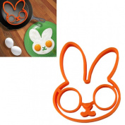 HP95(TM) 1pcs egg little white rabbit egg shaper silicone moulds egg ring silicone mould cooking tools