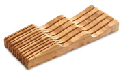 Culina Bamboo In-Drawer Knife Block Tray, 11 slots. 43cm x 14cm