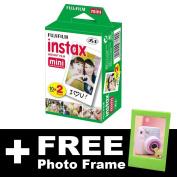 Fujifilm Instax Mini Film (20 shots) + FREE Photo Frame