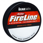 Fireline Braided Beading Thread, 2.7kg Test and .20cm Thick, 125 Yards, Smoke Grey