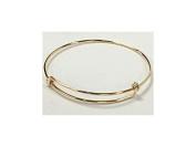 20cm - 24cm Adjustable 14Karat Gold-Filled Bangle Bracelet, 16 Gauge Wire