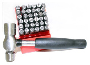 ToolUSA Premium 0.6cm Capital Letter and Alphabet Punch Set with Ball Pein Hammer