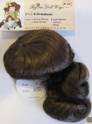 BYRON Craft DOLL HAIR WIG Style B-30 MULTISTYLE Fits SIZE 28cm Colour LIGHT BROWN Synthetic JAPAN Fibre HAIR w Long Loose Curls