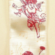 Ivory Musical Angel Wired Craft Ribbon 6.4cm x 20 Yards