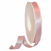 Morex Ribbon 08816/50-117 Double Face Satin Polyester Ribbon, 1.6cm by 50-Yard, Light Pink