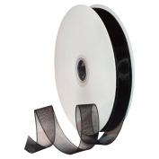 Morex Ribbon 91803/100-613 Organdy Nylon Ribbon, 1.6cm by 100-Yard, Black