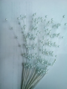 Pearl Spray, 3mm. Light Blue, Pack of 36 stems