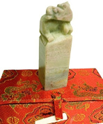 Yuemei Zodiac Horse Jade Stamp, Small