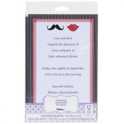 Lips and Moustaches Invitations, 12-Count-Wilton
