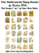 Peter Rabbit and Flopsy Bunnies Tiled Collage Sheet