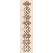 Leane Creatief Border Embossing Folder, 2.3 by 13.3cm, Lace
