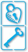 Sizzix Simple Impressions Embossing Folder Domino Lock & Key Brass Stencil 38-9801