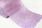 12cm 5 Yards Lavender Diamond Mesh Wrap Roll Crystal Rhinestone Sparkle Ribbon