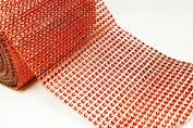 12cm 1 Yard Red Diamond Mesh Wrap Roll Crystal Rhinestone Sparkle Ribbon