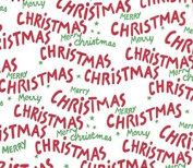Merry Christmas Script Gift Tissue Paper-20 Sheets
