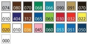 30cm x 15cm - 15 Sheets of Assorted Glossy Colours of Permanent Adhesive-Backed Vinyl for Craft, Hobby, Cricut Cutters